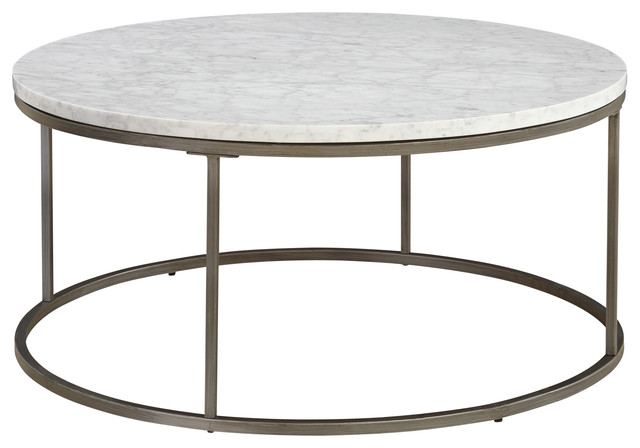 Palliser Furniture, Julien Coffee Table With White Marble Top, Round