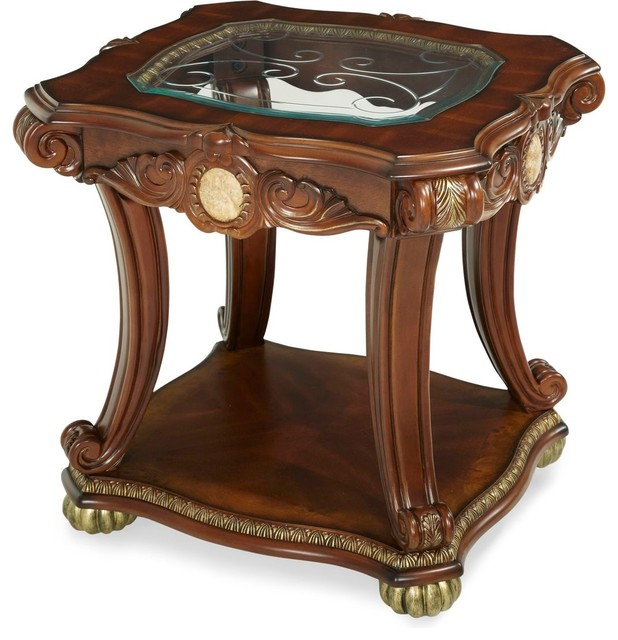 AICO Michael Amini Cortina End Table