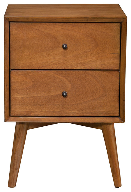 Alpine Furniture, Inc   Flynn Nightstand, Acorn   Nightstands And Bedside  Tables
