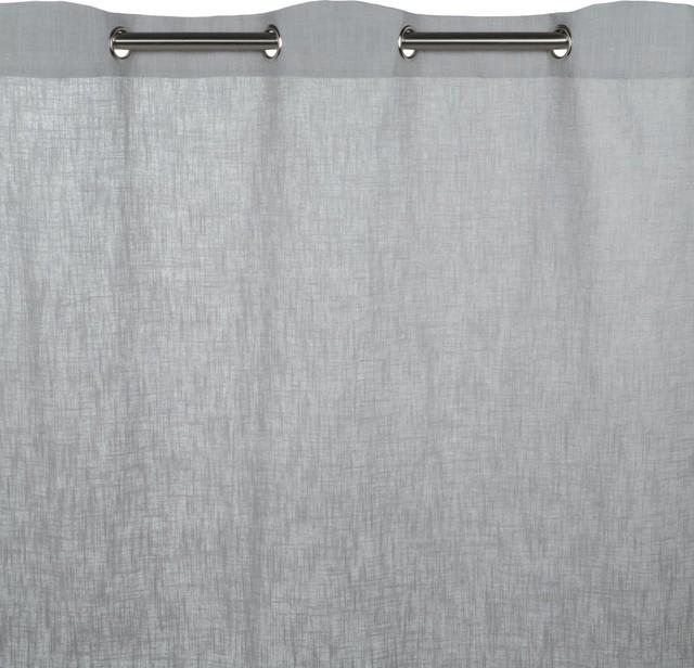 "Eyelet Curtain Bellevue, Pale Gray, 57.1""x108.3""."