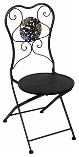 Metal Chair With Stones, Black