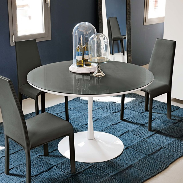 Modern Round Kitchen Or Dining Table Flute By Target Point View In Your Room Houzz