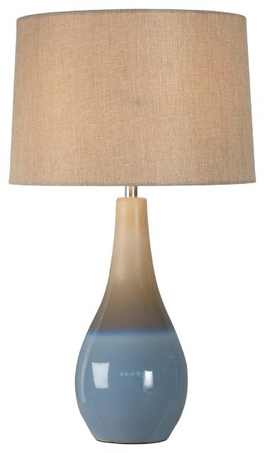 Marcin Table Lamp, Sea Blue