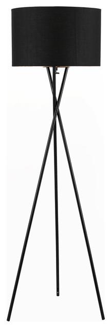 "Lisboa 63"" Tripod Floor Lamp, Black."