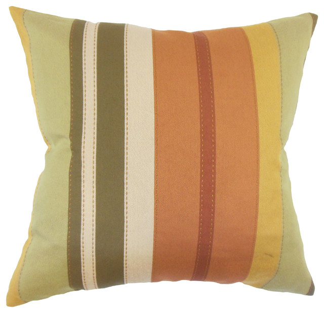 "Jaide Striped Down Filled Throw Pillow, Multi, 24""x24"""