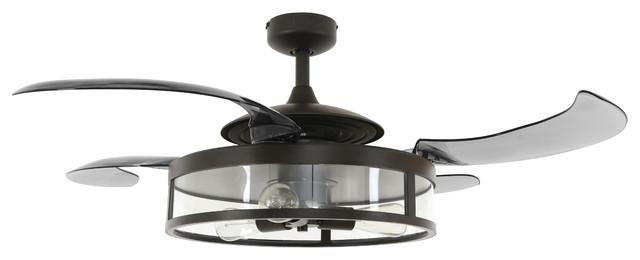 Teague 3-Light Fan, Antique Black.