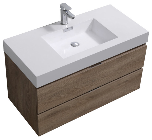 Bliss 40 Wall Mount Modern Bathroom Vanity Modern Bathroom Vanities And Sink Consoles By Us Bathroom Store Houzz