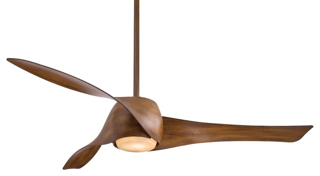 Minka Aire Artemis 58 Led Ceiling Fan, Distressed Koa.