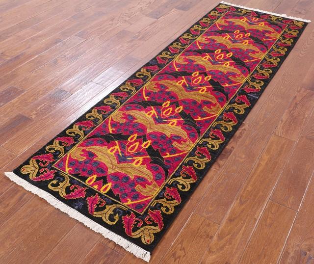 Runner Carpet Vintage Anatolian Handmade Carpet Handknotted Gray Carpet 3 x 8 Rug Wool Disstressed Runner Rug