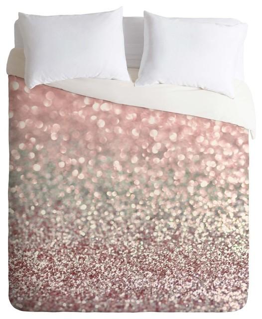 deny designs lisa girly pink snowfall duvet cover lightweight