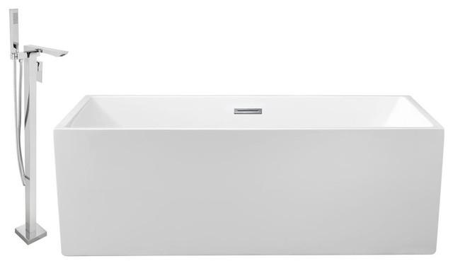 "Streamline 58"" Freestanding Faucet And Tub Set, Showerhead H-140."