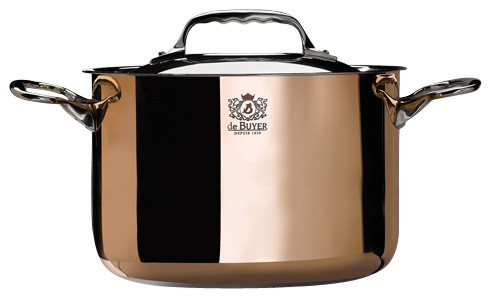 """Prima Matera High Stewpan And Lid, 9-1/2""""."""