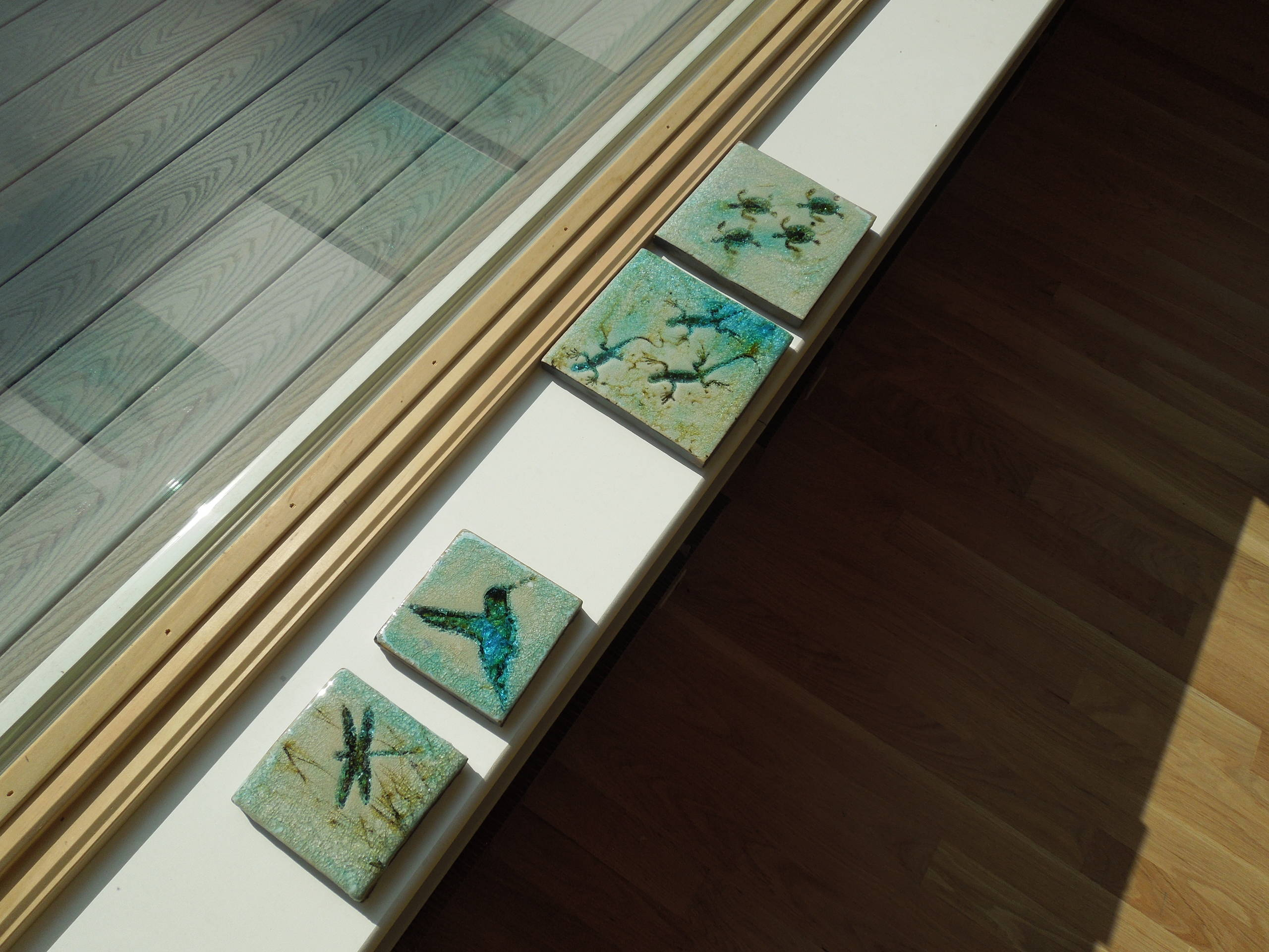 custom tiles waiting to be installed