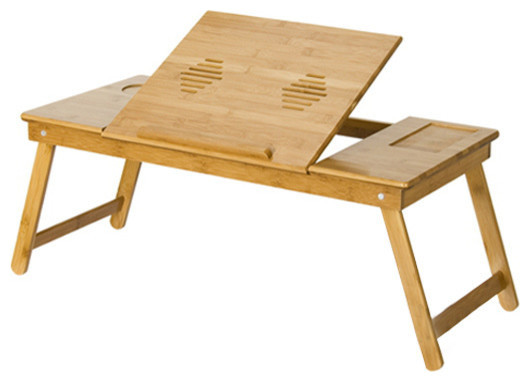 Furinno Nature Bamboo Mobile And Laptop Tray.