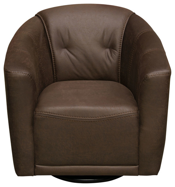 Magnificent Murphy Swivel Accent Chair Chocolate Brown Fabric Ibusinesslaw Wood Chair Design Ideas Ibusinesslaworg