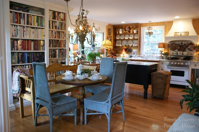 Intimate French Country Cottage Kitchen Rustic