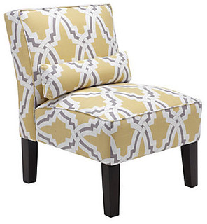 ... Accent Chairs Yellow And Gray Winda 7 Furniture
