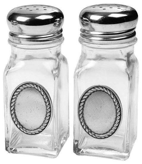 Rope Edge Salt and Pepper Shakers