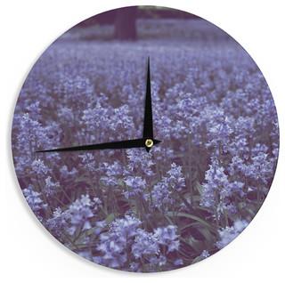 12-Inch, Kess InHouse Mydeas Illusion Damask Silver Gray Wall Clock