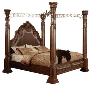 Calidonian Cherry Queen Canopy Post Bed Victorian