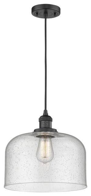 Innovations 201C-BK-G182 1 Light Mini Pendant Matte Black