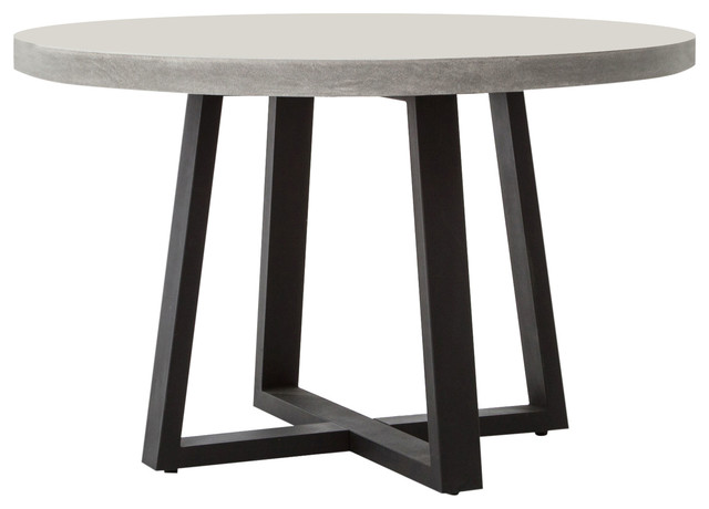Cyrus 48 Round Dining Table Transitional Dining Tables By