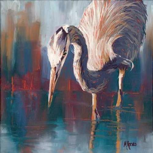 Urban Heron By Molly Reeves Canvas Print.