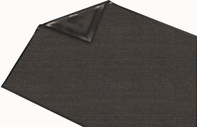Walter Indoor Wiper Gray Floor Mat, 4&x27;x11&x27;.
