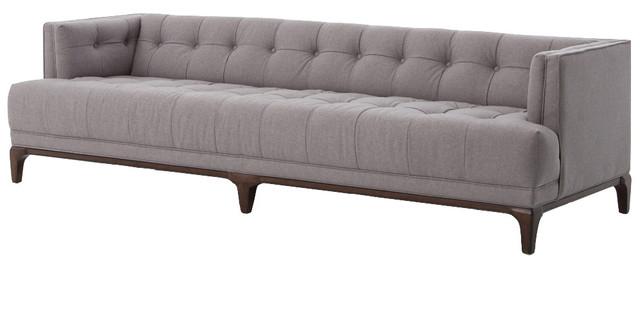 Saville Modern Classic Tufted Fabric Sofa, Gray & Reviews | Houzz