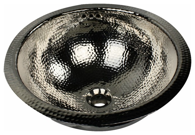 "Hammered Undermount Bathroom Sink nantucket sink rln-of, 16"" hand hammered brass round undermount"