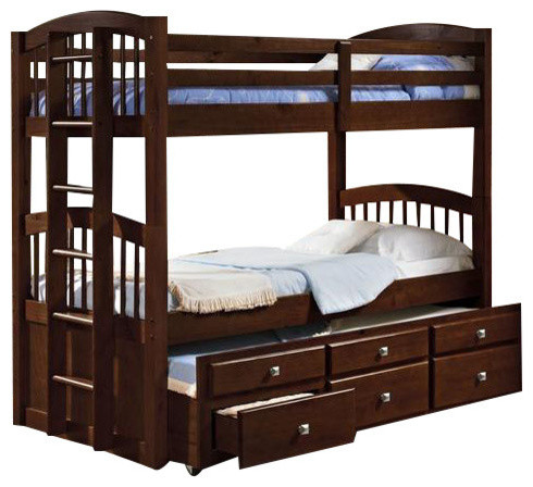 Captains Bunk Bed With Storage Transitional Kids Beds By