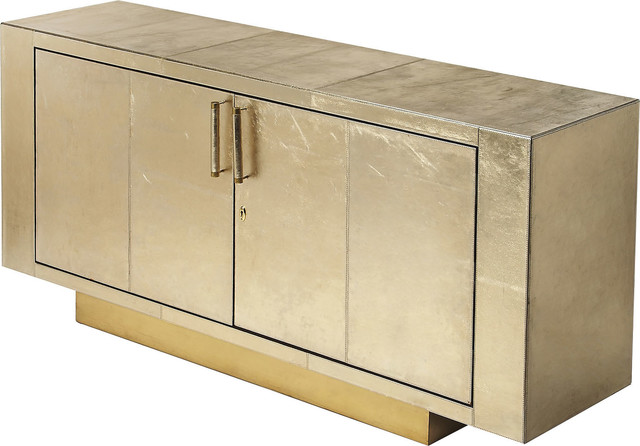 Butler Francois Gold Leather Buffet Contemporary Buffets And