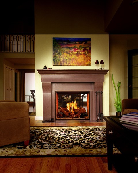 town country 36 see thru gas fireplace traditional