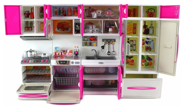 My Modern Kitchen 32 Full Deluxe Kit Battery Operated Kitchen Playset Contemporary Kids Toys And Games By Virventures