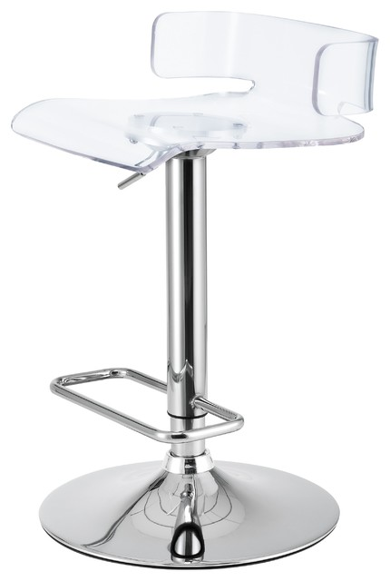 Excellent Isla Acrylic Low Back Gaslift Bar Stool Set Of 2 Transparent Bralicious Painted Fabric Chair Ideas Braliciousco