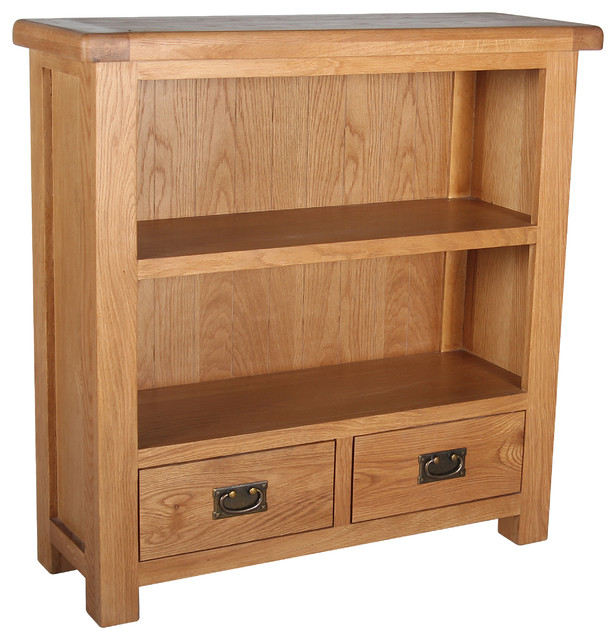 Malvern Bookcase With 2 Drawers Transitional Bookcases