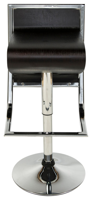 Leisuremod Napoli Plywood Bar Counter Stool Contemporary
