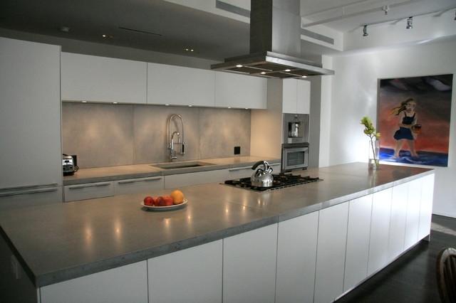 Kitchen Countertop Stores : Concrete kitchen countertops modern-kitchen-countertops