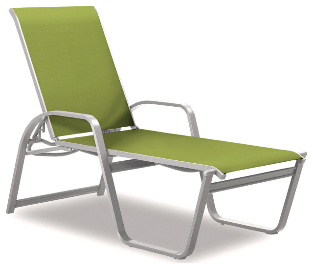 Aruba II 4-Position High Bed Chaise, Textured White, Lime