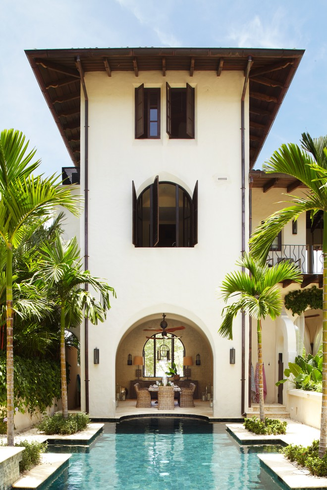 Example of a tuscan home design design in Other