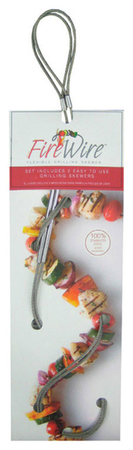 Fire Wire 000 Flexible Grilling Skewers, Stainless Steel, Set Of 2.