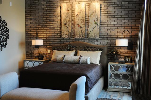accent wall using thin brick. - modern - sacramento -silverado