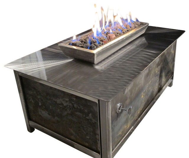 Impact Steel Fire Table Rectangle Transitional Fire