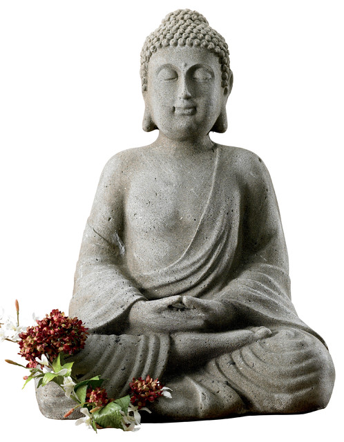 Meditating Buddha Statue - Asian - Garden Statues And Yard ...