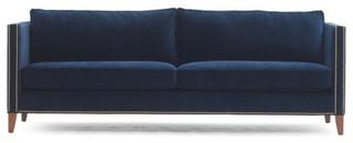 μπλέ καναπές