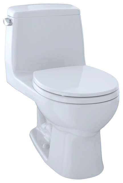 Toto Ultramax Round 1-Piece Toilet, Cotton White, Ms853113e01. -1