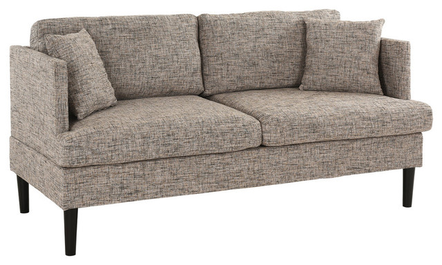 Modern Love Seat Couch With 2 Matching Pillows High Density Foam Midcentury Loveseats By Sofamania
