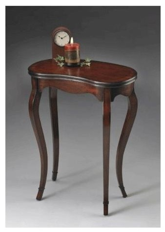Plantation Cherry Kidney-Shaped Table - Transitional - Side Tables ...