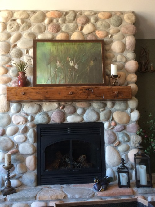 Should i put a shinny sealant on my river rock fireplace solutioingenieria Choice Image