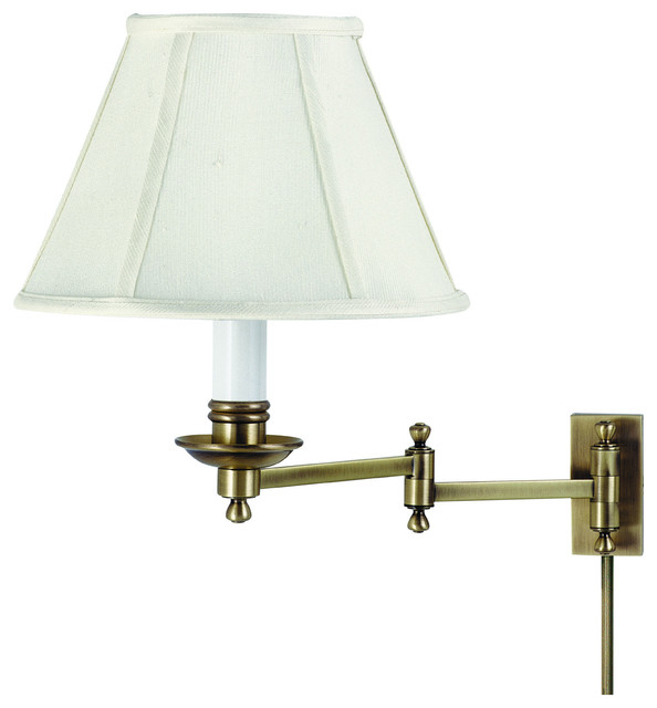 Contemporary Wall Lamps Swing Arms : Decorative Wall Swing Lamp - Contemporary - Swing Arm Wall Lamps - by Beverly Stores